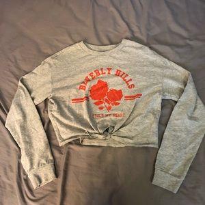H&M Gray Long Sleeved Beverly Hills Printed Tshirt